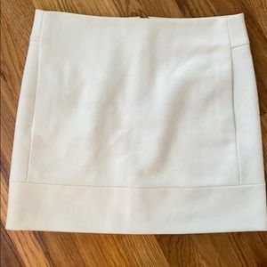 J. Crew Size 0 Wool Cream Skirt